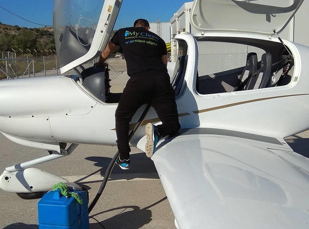 Βιολογικός καθαρισμός σε αεροπλάνο