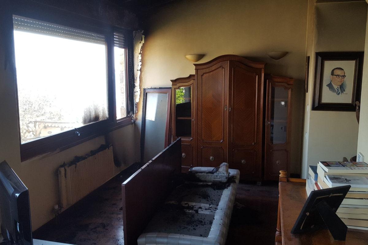 Γενικός καθαρισμός σπιτιού μετά από πυρκαγιά.